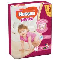Підгузники-трусики Huggies для дівчаток 4 9-14кг 52шт.