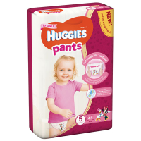 Підгузники-трусики Huggies для дівчаток 5 12-17кг 44шт.
