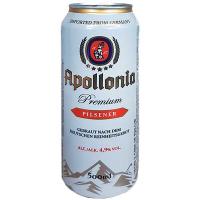 Пиво Apollonia Premium Pilsener світле ж/б 0,5л