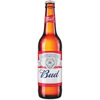 Пиво Bud світле лагер фільтроване 4,8% 0,5л с/б