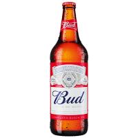 Пиво Bud світле лагер фільтроване 4,8% с/б 0,75л