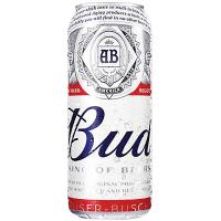 Пиво Bud світле лагер фільтроване 4,8% 0,5л ж/б