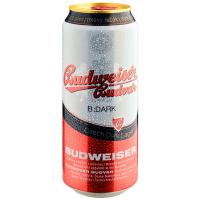 Пиво Budweiser budvar темне з/б 0,5л