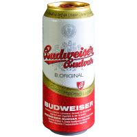 Пиво Budweiser B:Original світле фільтроване 5% ж/б 0,5л