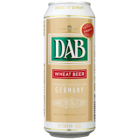 Пиво Dab світле пшеничне 4,8% ж/б 0,5л