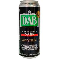 Пиво Dab темне фільтроване пастеризоване 4,9% з/б 0,5л