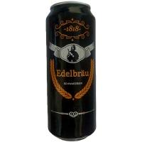 Пиво Edelbrau Schwarzbier темне з/б 0.5л