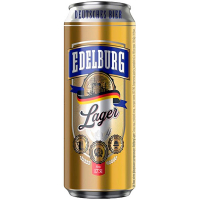 Пиво Edelburg Lager з/б 0,5л