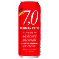 Пиво 7,0 German Lager beer світле фільтроване пастеризоване 5.4% 0,5л з/б