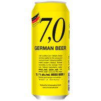 Пиво 7,0 German Weiss beer пшеничне світле нефільтроване 5.1% 0,5л з/б