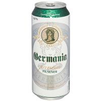 Пиво Germania Premium Pilsener Німеччина з/б 0,5л