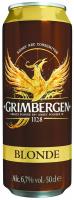 Пиво Grimbergen Blonde світле пастеризоване 6.7% 0,5л ж/б