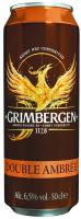 Пиво Grimbergen Double Ambree темне пастеризоване 6,5% 0,5л ж/б