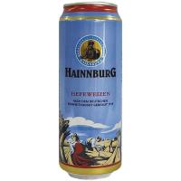 Пиво Hainnburg Hefeweizen ж/б 0.5л