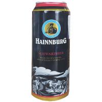 Пиво Hainnburg Schwarzbier з/б 0.5л