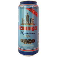 Пиво Henninger Hefeweizen пшеничне з/б 0,5л