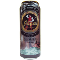 Пиво Jager Aus Kurpfalz Schwrzbier 0,5л ж/б