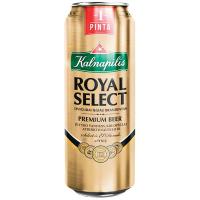 Пиво Kalnapilis Royal Select світле ж/б 0,568л