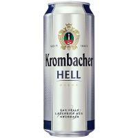 Пиво Krombacher Hell ж/б 0,5л