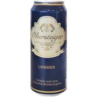 Пиво Obersteiger Landbier 0.5л ж/б