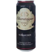 Пиво Obersteiger Schwarzbier 0.5л ж/б