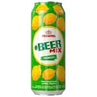 Пиво Оболонь Beermix лимон ж/б 0.5л