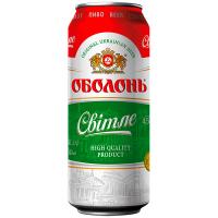 Пиво Оболонь Світле з/б 0.5л