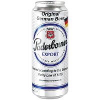 Пиво Paderborner Export світле фільтроване ж/б 0,5л
