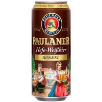 Пиво Paulaner Hefe-Weissbier dunkel н/ф з/б 0,5л