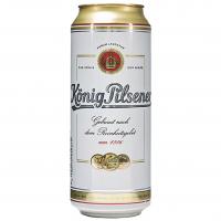 Пиво Konig Pilsener світле з/б 0,5л