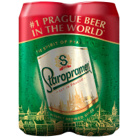 Пиво Staropramen Prague Premium 4*0,5л з/б