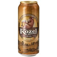 Пиво Velkopopovicky Kozel преміум світле з/б 0,5л