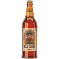 Пиво Жашківський Кабан Лагер світле нефільтроване 0,5л
