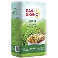 Пластівці San Grano вівсяні з насінням льону 500г