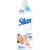 Кондиціонер-ополіскувач безфосфатний гіпоалергенний для дитячих речей Silan Sensitive & Baby, 900 мл