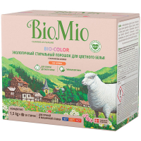 Пральний порошок екологічний гіпоалергенний для кольорових тканин Bio Mio Bio-Color, 1,5 кг