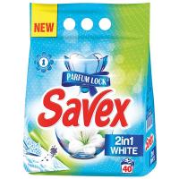 Пральний порошок для білих тканин Savex Parfum Lock 2in1 White Automat, 4 кг