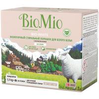Пральний порошок екологічний гіпоалергенний для білих тканин Bio Mio Bio White, 1,5 кг