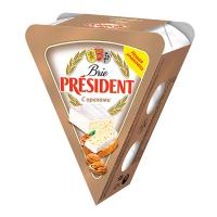Сир President Brie з горіхами 60% 125г х6