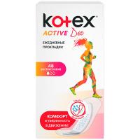 Щоденні гігієнічні прокладки Kotex Active Deo, 48 шт.