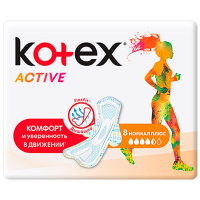 Прокладки Kotex Active нормал плюс 8шт