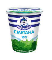 Сметана Простоквашино 10% стакан 350г х12