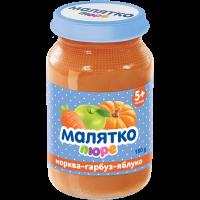 Пюре Малятко морква-гарбуз-яблуко (скло) 180г
