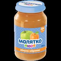Пюре Малятко яблуко-абрикос (скло) 180г