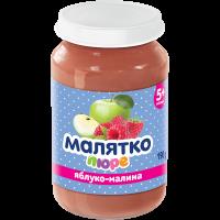 Пюре Малятко яблуко-малина (скло) 190г