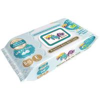 Дитячі серветки вологі гігієнічні FlyFix Sensitive, 60 шт.