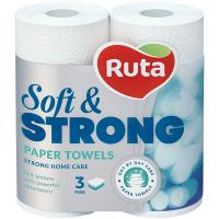 Рушники паперові рулонні Ruta Soft & Strong Білий, 2 шт.