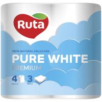 Папір Ruta pure white туалетний 4шт