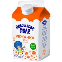 Ряжанка Волошкове Поле 4% pure-pak 450г