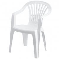 Стілець пластиковий білий AL180PBI